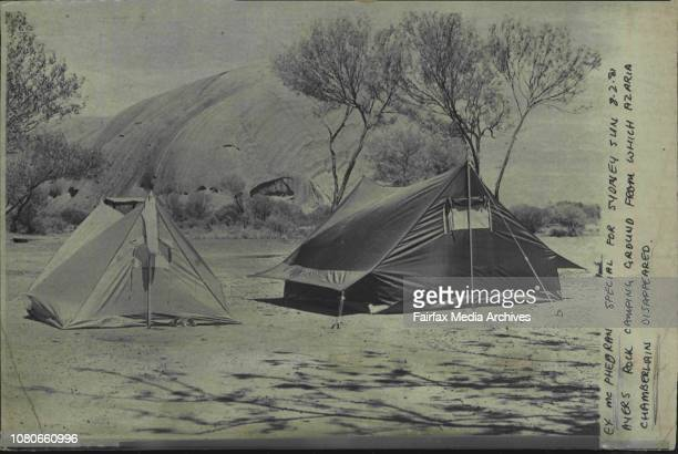 Ayers Rock camping ground from which Azaria Chamberlain disappeared. February 08, 1981. .
