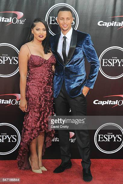 Ayesha Curry and Stephen Curry attend the 2016 ESPYS at Microsoft Theater on July 13 2016 in Los Angeles California