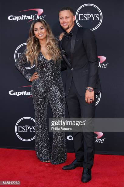 Ayesha Curry and Stephen Curry attend The 2017 ESPYS at Microsoft Theater on July 12 2017 in Los Angeles California