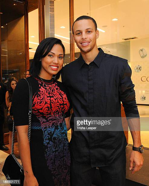 Ayesha Curry and Stephen Curry attend the David Yurman Launch of The Meteorite Collection With Kent Bazemore at Westfield Valley Fair on October 25...