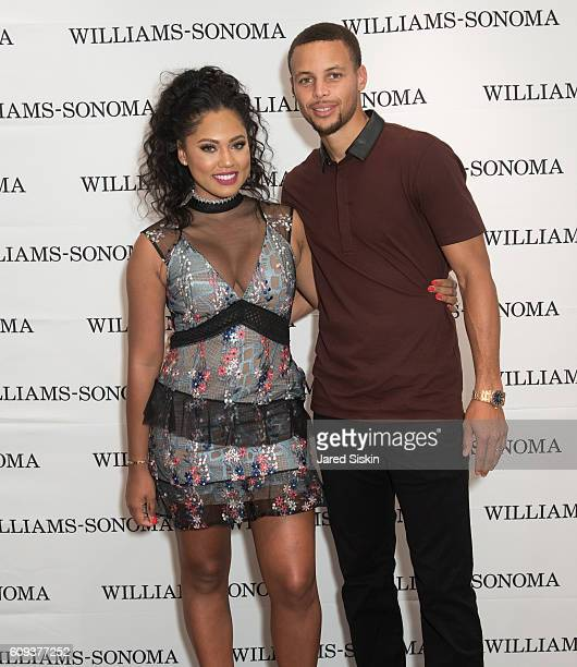 Ayesha Curry and Stephen Curry attend the WilliamsSonoma Ayesha Curry Book Signing at WilliamsSonoma Columbus Circle on September 20 2016 in New York...
