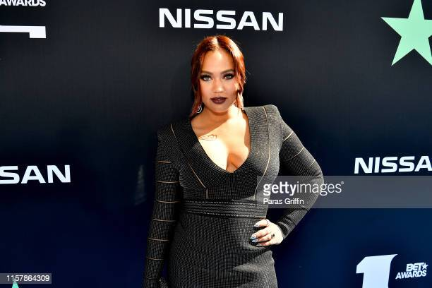 Ayesha Curry attends the 2019 BET Awards at Microsoft Theater on June 23 2019 in Los Angeles California