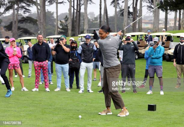 Ayesha Curry attends The Workday Charity Classic, hosted by Stephen and Ayesha Curry's Eat. Learn. Play. And Workday, at Franklin Elementary School...