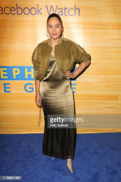 Ayesha Curry poses for a photo on the red carpet at 16th Street Station on April 1 2019 in Oakland California