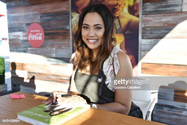 Ayesha Curry signs books at Goya Foods' Grand Tasting Village Featuring Mastercard Grand Tasting Tents KitchenAid Culinary Demonstrations on February...