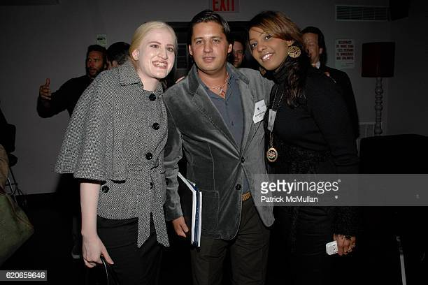Ayesha Khan Alan Becker and Manal Bassay attend NIZUC Resort and Residences Preview Opening at Soho House on January 22 2008 in New York City