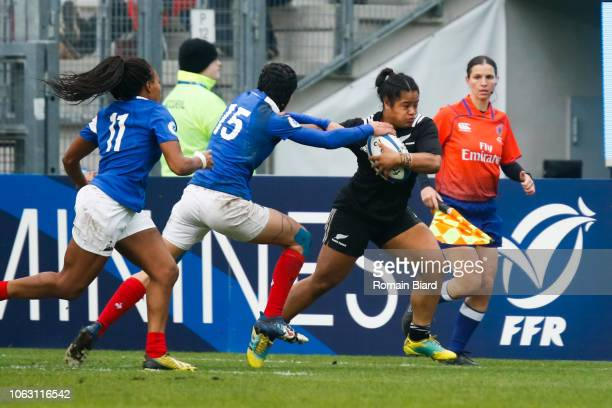 Ayesha Leti L'Iga of New Zealand during the Test match between France and New Zealand on November 17 2018 in Grenoble France