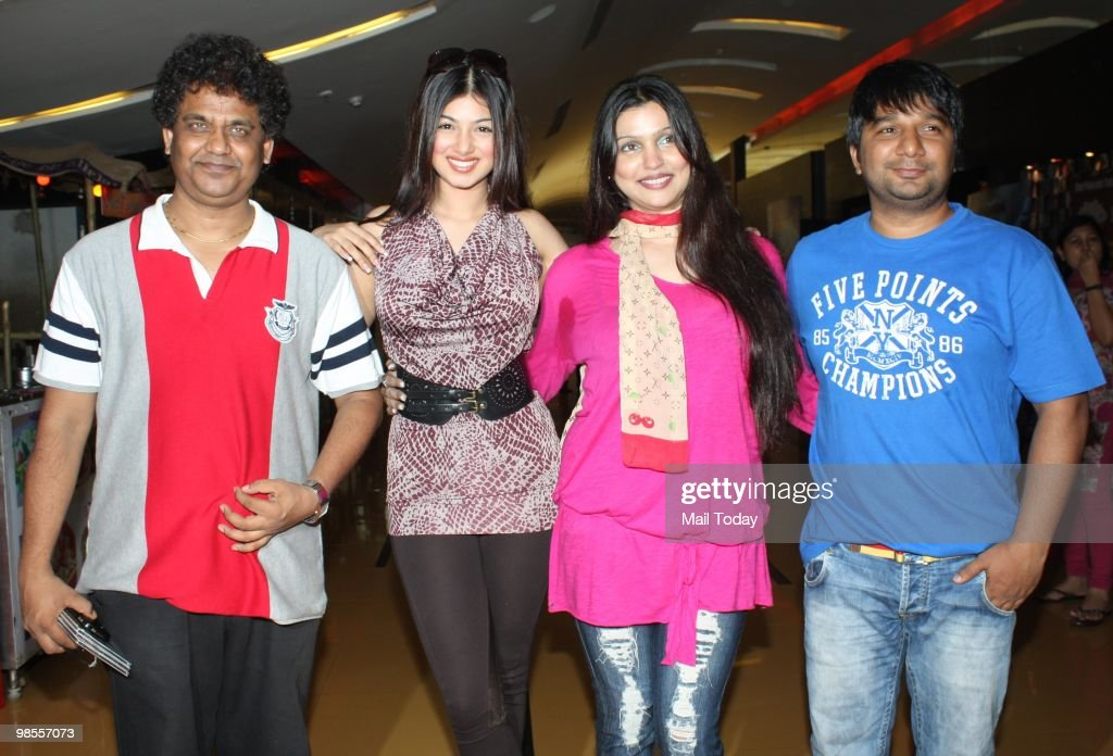 Ayesha Takia and Ahmed Khan at a promotional event for the film Paathshaala in Mumbai on April 16 2010