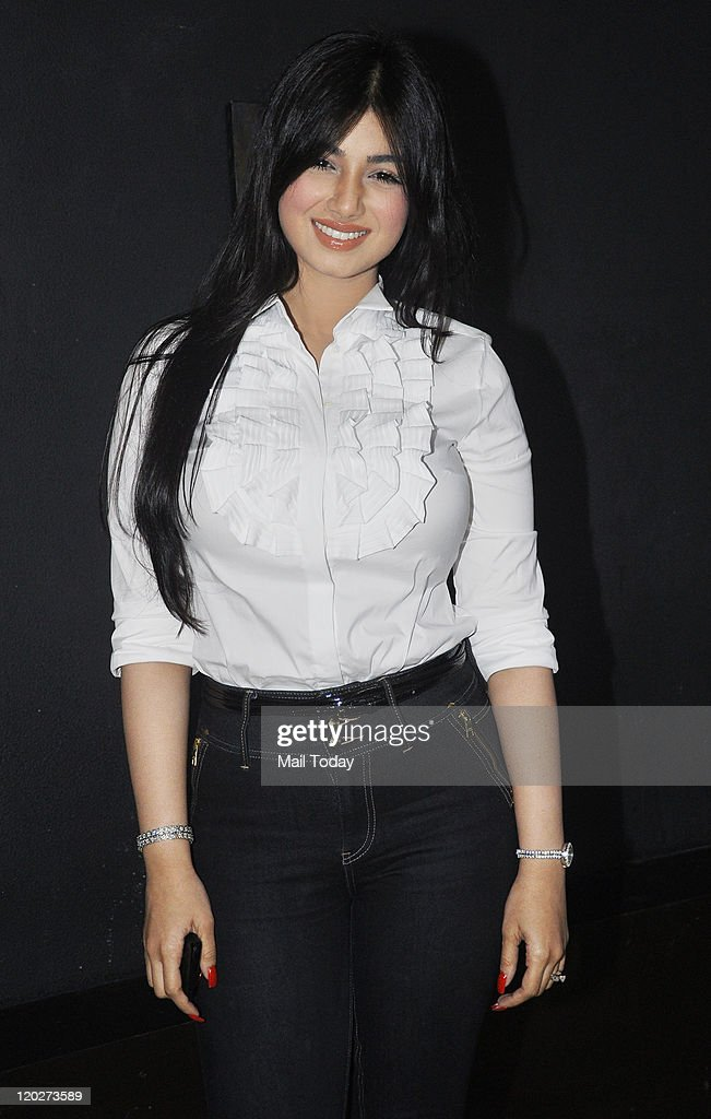 Ayesha Takia at the unveiling of the first look of the movie `Mod` at Cinemax Juhu in Mumbai on August 022011