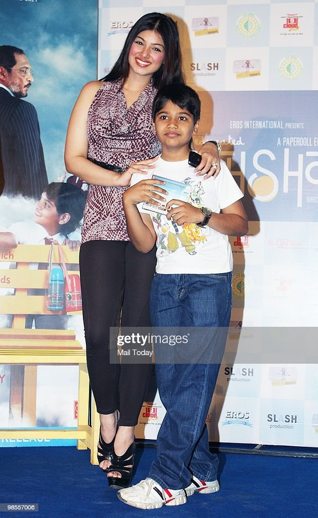 Ayesha Takia with a fan at a promotional event for the film Paathshaala in Mumbai on April 16 2010