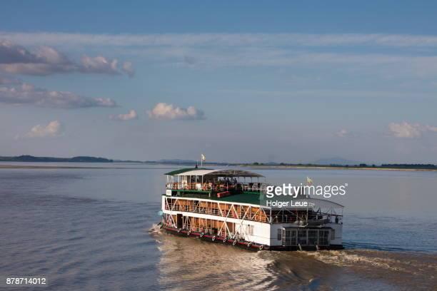 ayeyarwady (irrawaddy) river cruise ship rv paukan 1947 (paukan cruises) - 1947 stock pictures, royalty-free photos & images