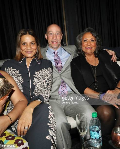 Ayiko Broyard Ted Reid and Cathy Hughes attend the Annual PreGrammy Reception hosted by Ted Reid at STK on February 9 2017 in Los Angeles California