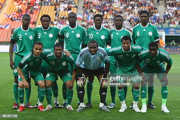 Ayila Yussuf of Nigeria during the International Friendly match between France and Nigeria at the Stade GeoffroyGuichard on June 2 2009 in St Etienne...