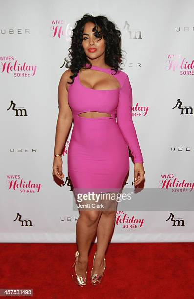 Ayisha Diaz attends the NBA NFL Wives Holiday Cocktail Mixer at Pranna Restaurant on December 17 2013 in New York City