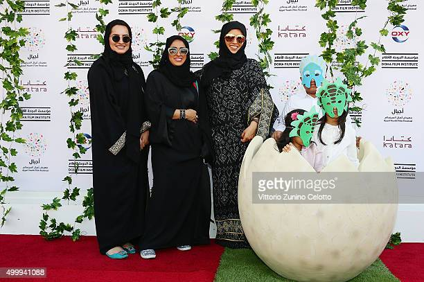 Ayjal Youth Film Festival Director and Doha Film Institute CEO Fatma Al Remaihi and family attend the Middle East premiere of 'The Good Dinosaur'...