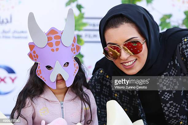 Ayjal Youth Film Festival Director and Doha Film Institute CEO Fatma Al Remaihi attends the Middle East premiere of 'The Good Dinosaur' part of the...