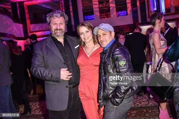 Aykut Kayacik Tina Ruland and Erdogan Atalay attend Movie Meets Media 2018 on February 18 2018 in Berlin Germany