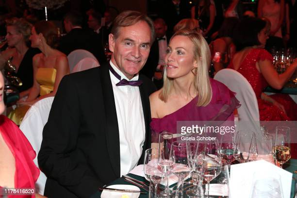 Ayleena Jung and Mayor of Leipzig Burkhard Jung attend the 25th Leipzig Opera Ball La Dolce Vita in Suedtirol at Oper Leipzig on October 26 2019 in...