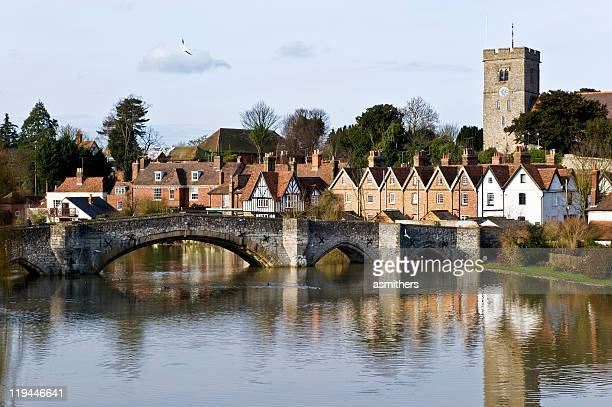 aylesford and the river medway - river medway stock photos and pictures