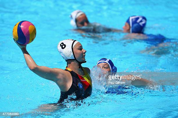 Aylin Fry of Germany in action during the Women's Water Polo Group Round Group A Match between Germany and Israel during day two of the Baku 2015...