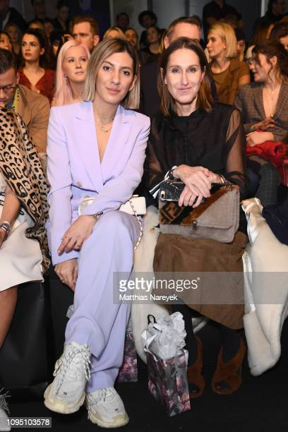 Aylin Koenig and Annette Weber attend the Riani show during the Berlin Fashion Week Autumn/Winter 2019 at ewerk on January 16 2019 in Berlin Germany