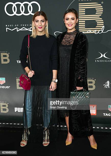 Aylin Koenig and Laura Noltemeyer attend the Place To B Influencer Award at Axel Springer Haus on December 15 2016 in Berlin Germany