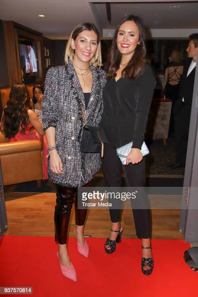 Aylin Koenig and Laura Noltemeyer during the Aspria BondParty on March 24 2018 in Hamburg Germany
