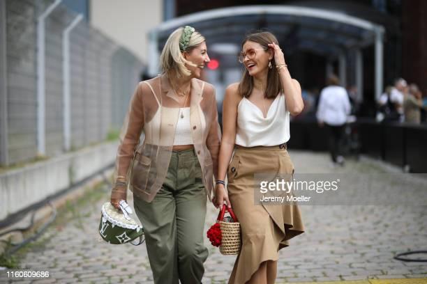 Aylin Koenig and Nina Schwichtenberg on July 01, 2019 in Berlin, Germany.