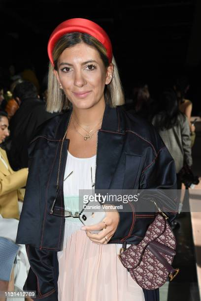 Aylin Koenig attends the Sportmax show during Milan Fashion Week Fall/Winter 2019/20 on February 22 2019 in Milan Italy