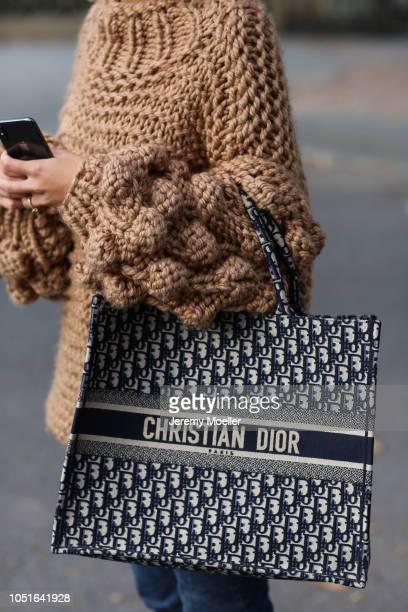 Aylin Koenig detail from the Dior bag on October 08 2018 in Hamburg