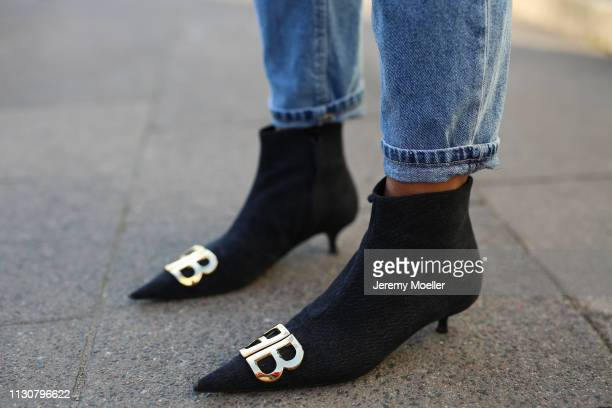 Aylin Koenig wearing Balenciaga shoes Stradivarius jeans on February 18 2019 in Hamburg Germany