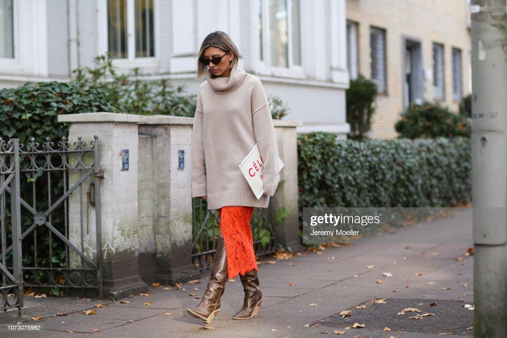 Street Style - Hamburg - November 26, 2018 : Photo d'actualité