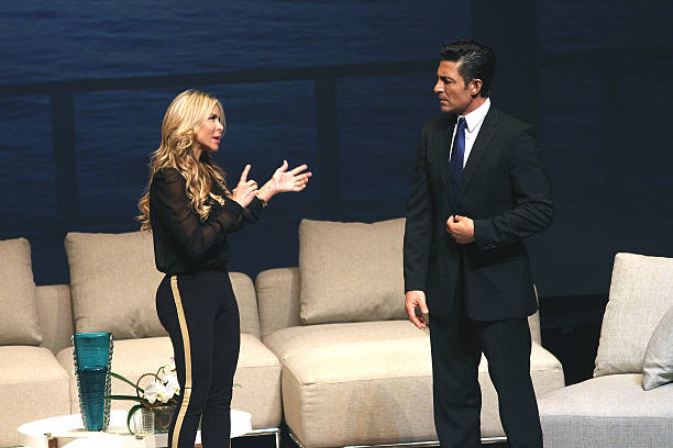 Aylin Mujica and Fernando Colunga perform in 'Obscuro Total' At Bellas Artes on March 2, 2014 in San Juan, Puerto Rico.