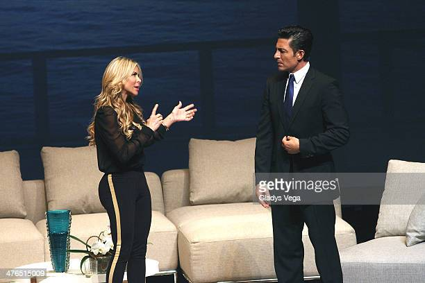 Aylin Mujica and Fernando Colunga perform in 'Obscuro Total' At Bellas Artes on March 2 2014 in San Juan Puerto Rico