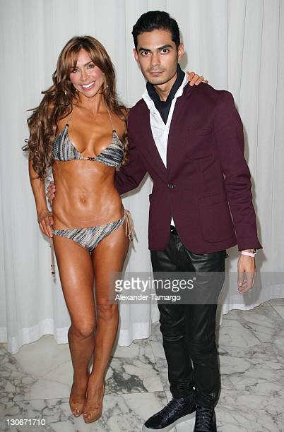 Aylin Mujica and guest attend Miami Hair Beauty Fashion 2011 by Rocco Donna at Viceroy Hotel Spa on October 27 2011 in Miami Florida