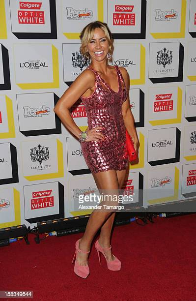 Aylin Mujica arrives at People en Espanol celebrates The Stars of the Year at SLS South Beach on December 13 2012 in Miami Florida