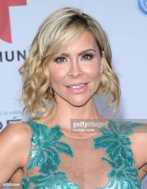 Aylin Mujica arrives at Premios Tu Mundo Awards at American Airlines Arena on August 21 2014 in Miami Florida