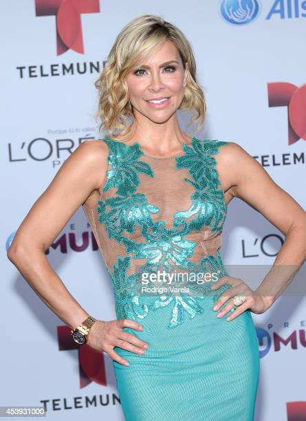 Aylin Mujica arrives at Premios Tu Mundo Awards at American Airlines Arena on August 21, 2014 in Miami, Florida.
