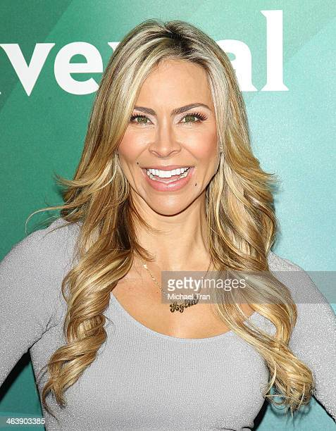 Aylin Mujica arrives at the NBC/Universal 2014 TCA Winter press tour held at The Langham Huntington Hotel and Spa on January 19, 2014 in Pasadena,...