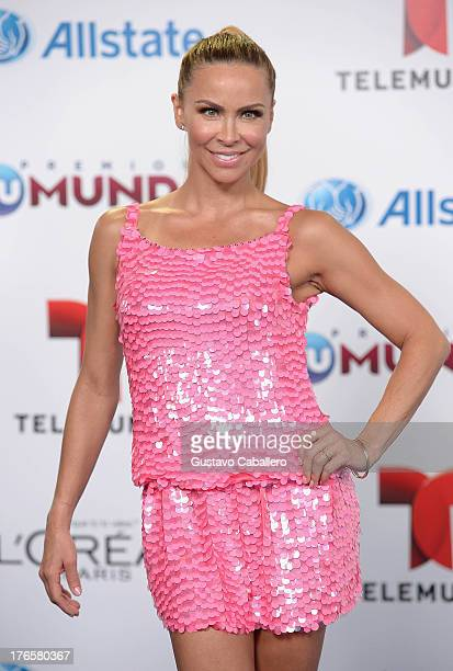 Aylin Mujica arrives for Telemundo's Premios Tu Mundo Awards at American Airlines Arena on August 15 2013 in Miami Florida