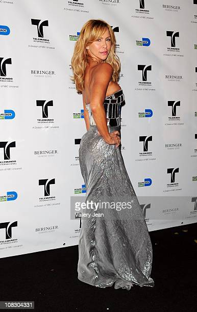 Aylin Mujica attends Telemundo NATPE party at Vizcaya Museum Gardens on January 24 2011 in Miami Florida