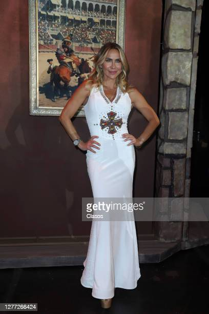 """Aylin Mujica during the press conference of the play """"El Cuarentenorio Comico"""" at Centro Cultural Teatro 1 on September 28, 2020 in Mexico City,..."""
