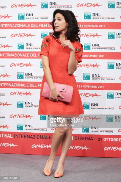 Aylin Prandi attends the Il Paese Delle Spose Infelici Photocall during the 6th International Rome Film Festival at Auditorium Parco Della Musica on...