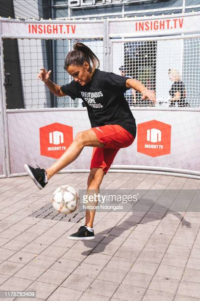 """Aylin Raren performs during the launch event for Insight TV's new show """"Streetkings in Jail"""" on September 17, 2019 in Munich, Germany."""