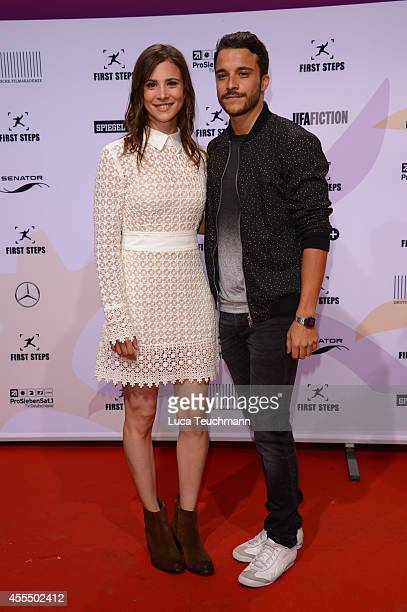 Aylin Tezel and Kostja Ullmann attend the First Steps Award 2014 at Stage Theater on September 15 2014 in Berlin Germany