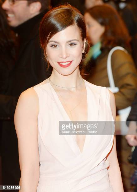 Aylin Tezel arrives for the closing ceremony of the 67th Berlinale International Film Festival Berlin at Berlinale Palace on February 18, 2017 in...