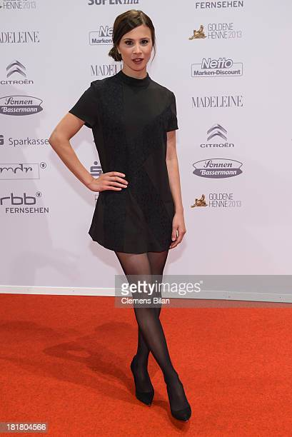 Aylin Tezel arrives for the Goldene Henne 2013 award at Stage Theater on September 25 2013 in Berlin Germany