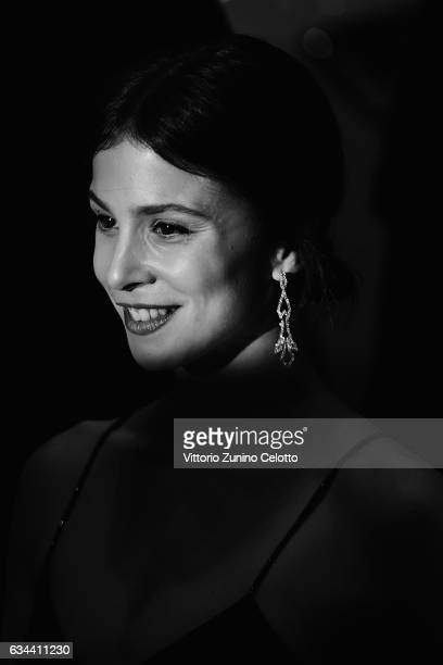 Aylin Tezel attends the 'Django' premiere during the 67th Berlinale International Film Festival Berlin at Berlinale Palace on February 9, 2017 in...