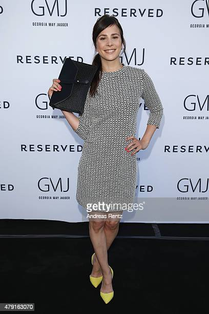 Aylin Tezel attends the RESERVED collection preview seated dinner at upside east on July 1 2015 in Munich Germany