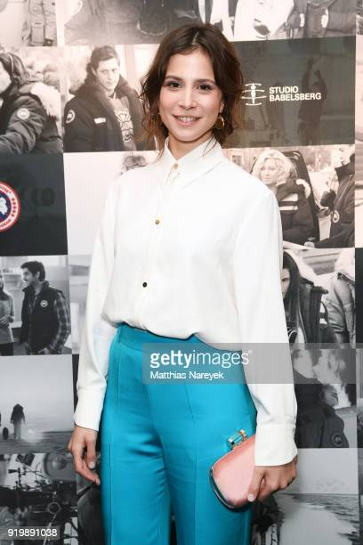 Aylin Tezel attends the Studio Babelsberg Night X Canada Goose on the occasion of the 68th Berlinale International Film Festival at Soho House on...